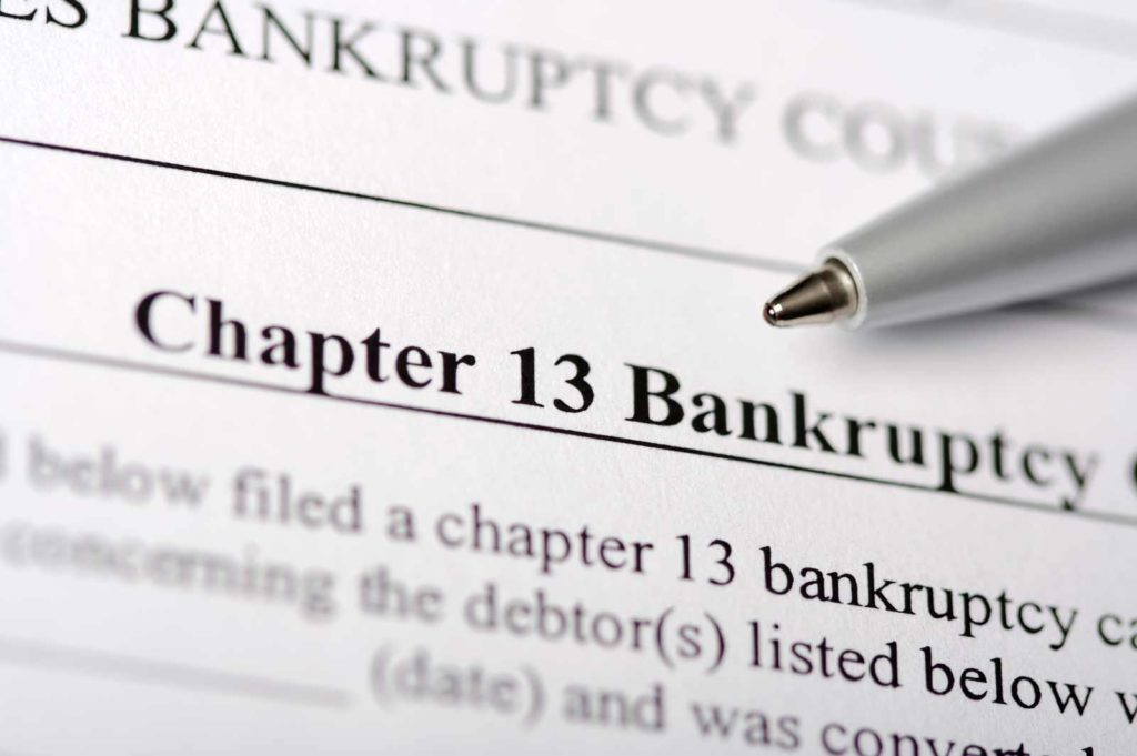 Chapter 13 Bankruptcy paperwork